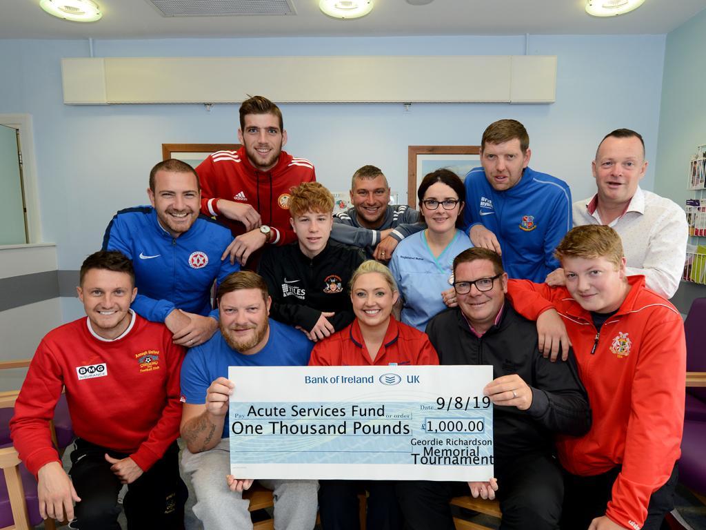 George Richardson Memorial Cup raises £1000 for Mandeville Unit