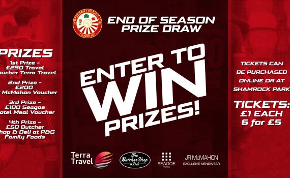 End of Season Prize Draw Tickets
