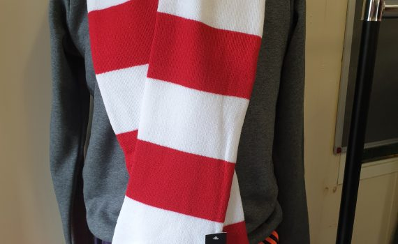 Bar Scarf – Red & White
